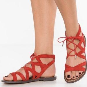 Sam Edelman Gemma Suede Lace Up Sandal